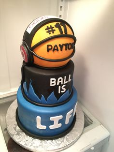 Payton's 5th grade graduation cake (basketball with Beats by Dr. Dre headphones)