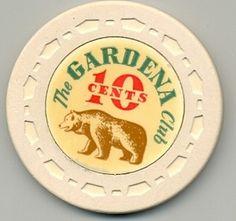 10c The Gardena Club Casino Poker Chip | eBay