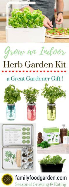 Grow an Indoor Herb Garden with a Herb Garden Kit