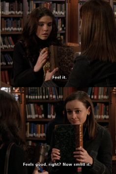 This is why I can't take just anyone to a bookstore. They don't understand.  (Gilmore Girls)