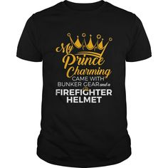 Shop Firefighter Wife Shirt Firefighters Girlfriend -- My Prince custom made just for you. Available on many styles, sizes, and colors. Designed by BonitaNuche Firefighter Boyfriend, Firefighter Wedding, Firefighter Decor, Firefighters Girlfriend, My Prince Charming, Wife And Girlfriend, Custom Shirts, Girlfriends, Legging Shirts