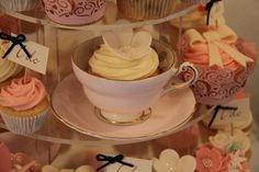 Cupcake in a teacup <3