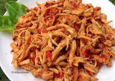 Resep Masakan ayam suwir kuah daun jeruk pedas - New Ideas Seafood Recipes, Indian Food Recipes, Asian Recipes, Chicken Recipes, Recipe Chicken, Healthy Cooking, Cooking Recipes, Healthy Recipes, Healthy Food