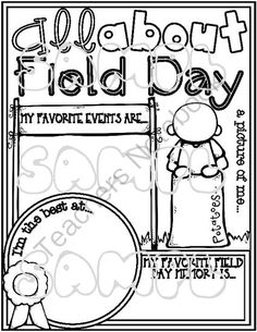 All About FIELD DAY Poster Activity (Fill In & Color Me Poster for the End of the Year) from Tangled Up In Teaching on TeachersNotebook.com -  (1 page)  - It's All About FIELD DAY with this adorable Color Me Poster. Use these posters as a memory book page, reflection activity, introduction to the day�and much, much more. The  possibilities are ENDLESS!!!
