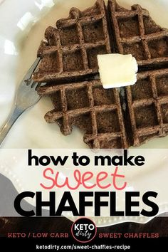 Sweet Chaffles Recipe – Perfect Keto Dessert For When You Want Sugar - Pink Rezepte Desserts Keto, Keto Dessert Easy, Keto Snacks, Dessert Recipes, Holiday Desserts, Dinner Recipes, Slow Cooking, Ketogenic Recipes, Low Carb Recipes