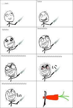 Rage Comics: cooking home alone