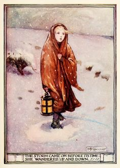 Minnie Dibdin Spooner ~ Lucy Gray by William Wordsworth ~ The Golden Staircase: Poems and Verses for Children, 1906 ~