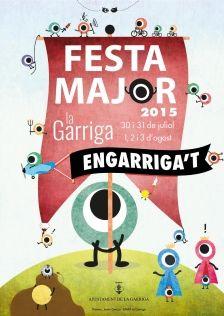Cartell de Festa Major de la Garriga #laGarriga #AjuntamentdelaGarriga #VallesOriental