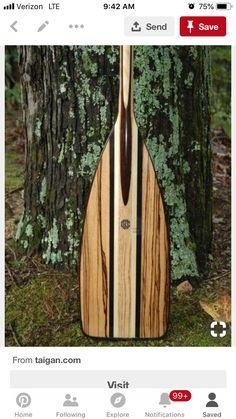 """Artisan """"Zebra-wood & Colobolo"""" Paddle by Fritz Orr Wood Canoe, Wooden Kayak, Wooden Paddle, Canoe Boat, Paddle Boat, Canoe And Kayak, Kayaks, Woodworking Canoe, Canoa Kayak"""