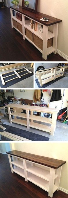 Craft Storage Ideas Ikea Diy Projects New Ideas - Diy Möbel Diy Furniture Cheap, Diy Furniture Plans, Diy Furniture Projects, Farmhouse Furniture, Pallet Furniture, Cheap Home Decor, Furniture Makeover, Home Projects, Home Furniture