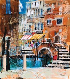 Shopping In Venice 17x15