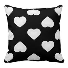 Double white hearts up + down pattern pillow #heartwarestore http://www.zazzle.com/heartwarestore?rf=238590879371532555
