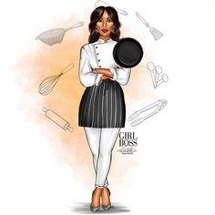 Black Women Chefs | Black Female Chef Stock Vector & Stock ...