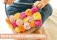 Patrones Crochet: Bolso de flores de crochet tutorial