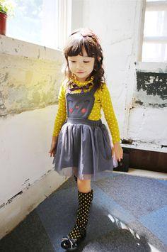 Girls Jumper skirt for Halloween by hellodearkids