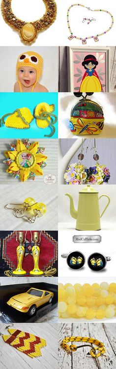 Dreams in Yellow! by Erinn LaMattery on Etsy--Pinned+with+TreasuryPin.com