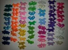 VINTAGE OLD SCHOOL LOT OF 70 CHILDRENS HAIR BARRETTES GIRLS LOVE THESE COLORS!