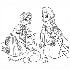 Anna And Elsa Rearranging The Snowy Parts Of Olafs Body