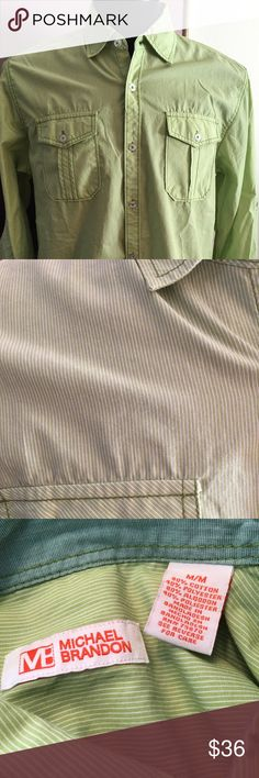 🎁MICHAEL BRANDON LONG SLEEVE SHIRT 💯AUTHENTIC MICHAEL BRANDON LONG SLEEVE BUTTON SHIRT 100% AUTHENTIC. STUNNING AND STYLISH AMERICAN FITTED MEDIUM michael brandon Shirts Casual Button Down Shirts