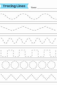 English Trace the Lines worksheets pre-k