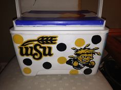 Hand painted cooler-- College wichita state