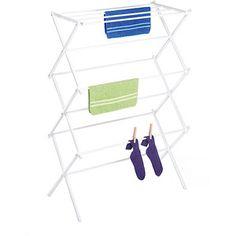 Whitmor White Foldable Drying Rack