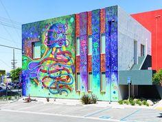 "Random hikes short and long  Entrepreneurship Mural by Jaime ""Germs"" Zacarias (2015) at 13420 Van Nuys Blvd."