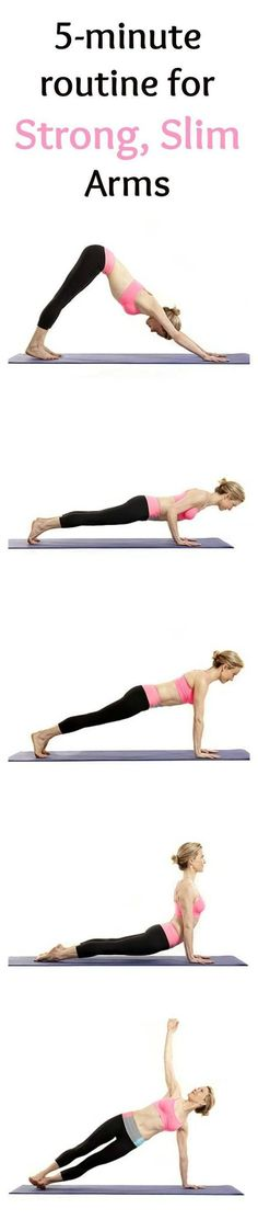 A 5-Minute Yoga Routine for Strong, Slim Arms #health #fitness #yoga #yogatips