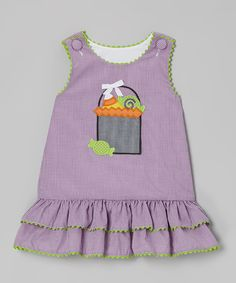 Purple Gingham Treat Bag Ruffle Jumper - Infant, Toddler & Girls | zulily