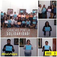 ¡GRACIAS POR SU SOLIDARIDAD !  Activistas de la Sección de Amnistia Internacional Amnistía Internacional México suman sus voces para exigir al Estado paraguayo que protejan los derechos humanos de la niña de 10 años embarazada.  Mañana activistas de Amnistía Internacional Paraguay harán entrega de todas las firmas recolectadas a las autoridades.