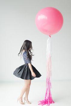 Fancy Frill / Tassel Balloon   Chloe Ombré Rose by confettiandco, $55.00