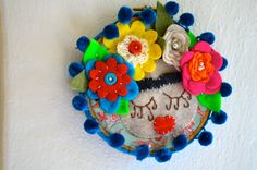 Embroidery Hoop Keepsake with Frida Khalo by lillah on Etsy, $25.00