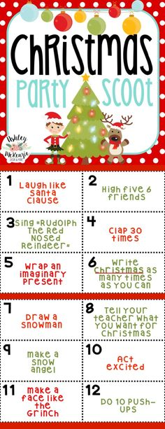 Have a blast at your classroom Christmas Party! Scoot is a fun way to get your students up, moving, and having a great time! 30 cards included!