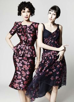 Mother Daughter Models Pat and Anna Cleveland Team Up for Zac Posen Resort