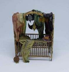 Collector Miniature 1:12 Scale Haunted BAT Infested ATTIC CRIB, Haunted House, witch, wizard Mice