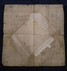 These pieces are several layers thick and they are glued together from old ledger books, creating unintended, tone-on-tone collages. Paper Glue, Paper Trail, Japanese Textiles, Black And White Drawing, Japanese Paper, Color Shapes, Boro, Rice Paper, Map Art