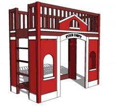 Build a Firefighter Loft Bed! - Groovy Kids Gear