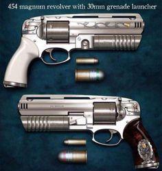 Pistol with grenade launcher