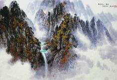(North Korea) Eight ponds in Mt. Geumgang by Kim Seung-hi (1939-  )