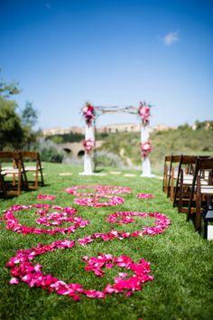Floral ceremony aisle | photography by http://acquaphoto.com/