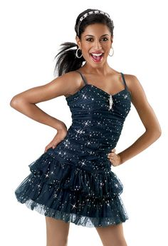 Navy Sequin Party Dress; Weissman Costumes