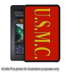 US Marines USMC Marine Corp Kindle Fire Black Case Cover Skin by UniqueDesignGifts. $19.99. BRAND NEW Black Snap On Plastic KINDLE FIRE Case. Case has openings on ends for easy port connectivity. Case covers back and sides, does not cover any portion of the front of the Kindle Fire. Looks great and is an easy way to personalize your Kindle Fire. RETURN POLICY If for any reason you are not happy with your purchase, we will gladly offer you to exchange it or give you ...