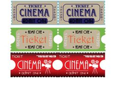 Movie night just got better with these free and printable movie tickets! Your kids will have a blast playing attendant, selling and receiving the tickets. Make some popcorn and turn down the lights for the main event!
