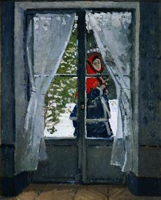 Camille Monet in the Snow (1868). Claude Monet.