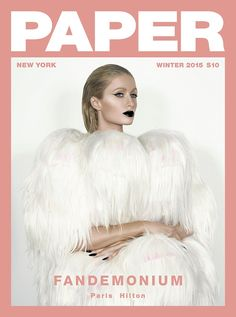 """wowsoclassy: """" Paris Hilton photographed by Vijat Mohindra on the cover of Paper Magazine's Fandemonium Winter 2015 issue """" Paper Magazine Cover, Magazine Cover Layout, Magazine Front Cover, Fashion Magazine Cover, Fashion Cover, New Fashion, Trendy Fashion, Magazine Layouts, Fashion Ideas"""