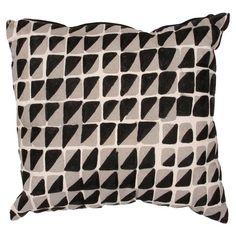 Stella Pillow in Black & Gray