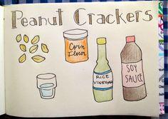 Easy and Happy Food: Peanut Crackers. Crackers de mani.