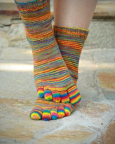 Downtown's Toe socks pattern by Downtown