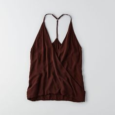 AEO Don?T Ask Why Woven Tank ($26) ❤ liked on Polyvore featuring tops, red, woven tank top, american eagle outfitters, red singlet, braided tank and red top
