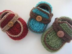 Boy's Moccasins Crochet Baby Booties by CrochetBabyBoutique, $4.99